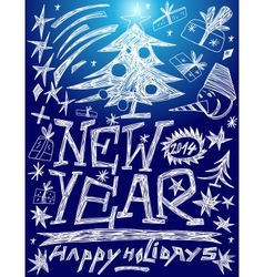 New Year - doodles set vector image vector image
