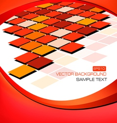 red abstract background with mosaic vector image vector image
