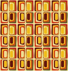 Retro textile inspired by 60s vector image vector image