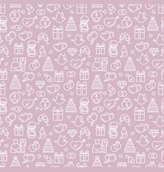 romantic wedding seamless pattern design vector image