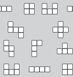 Seamless pattern linear block game vector image