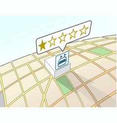 Sport venue lowest user rating vector