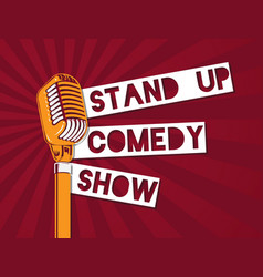 stand up comedy microphone on vector image