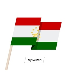 Tajikistan ribbon waving flag isolated on white vector