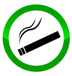 The sign smoking area vector image vector image