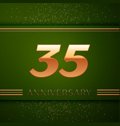 Thirty five years anniversary celebration logotype vector