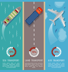 Transportation top view infographics vector