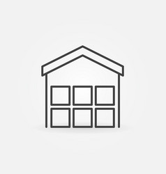 Warehouse outline icon vector