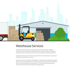Warehouse services flyer design vector