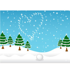 Winter and snow background vector
