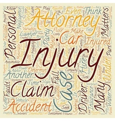 Why hire a personal injury attorney text vector