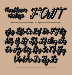 Handwritten lettering font alphabet vector