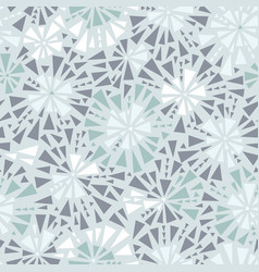 Silver grey triangles bursts seamless vector