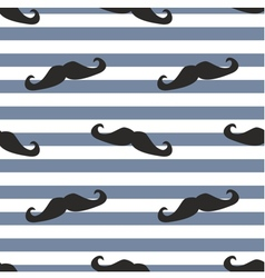 Tile moustache sailor blue white background vector