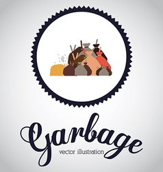 Garbage design over white background vector