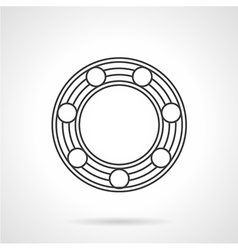 Line icon for ball bearing vector