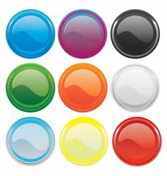 gloss buttons vector image