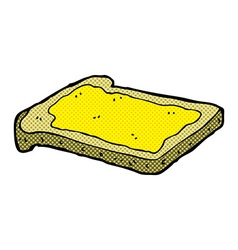 Comic cartoon honey on toast vector