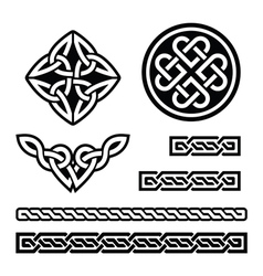 Celtic irish patterns and braids -  st patr vector