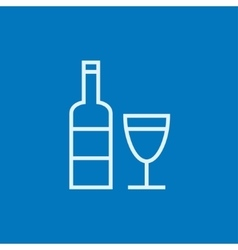 Bottle of wine line icon vector