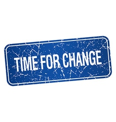 Time for change blue square grunge textured vector