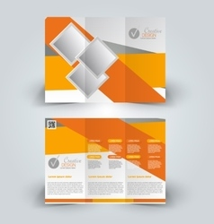 Trifold brochure design template vector