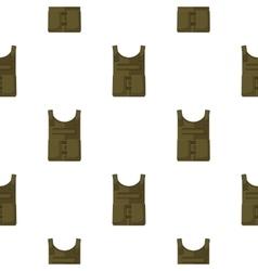 Army bulletproof vest icon in cartoon style vector