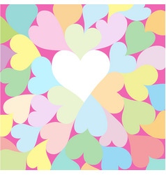 background with beautiful hearts vector image vector image