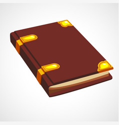 brown cartoon book vector image vector image