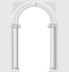 Classical white arch vector