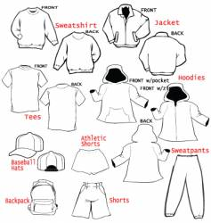 clothing apparel templates vector image