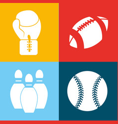 Color games balls background icon vector
