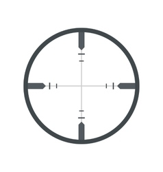 Crosshair flat icon vector