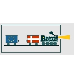 Denmark and eu relationships brexit text vector