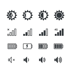 Different mobile phone application pictograms vector