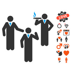 discussion group icon with valentine bonus vector image