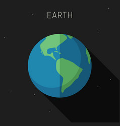earth planet vector image vector image