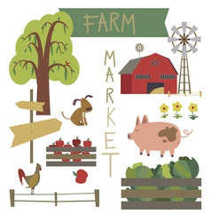 Farmer market vector