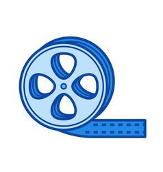 film strip line icon vector image