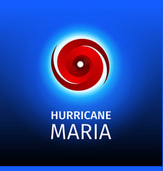 graphic banner of hurricane maria vector image
