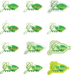 GREEN CUISINE resize vector image vector image