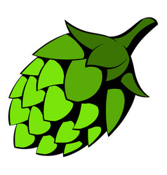 Green hop icon icon cartoon vector