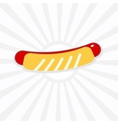 Hotdog icon vector image