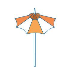Isolated cute umbrella vector