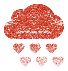 Love rain cloud grunge texture icon vector