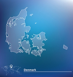 Map of denmark vector