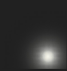 Monochrome circles halftone background vector
