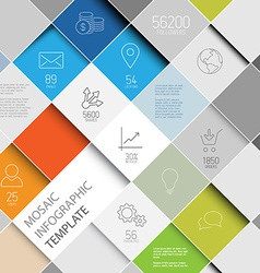 mosaic infographic template vector image