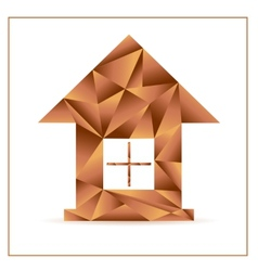 Origami house from triangles vector