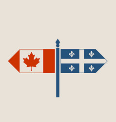 relationships between canada and quebec vector image